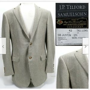 Samuelsohn Men's Cashmere Sz 42 Tall L Excellent